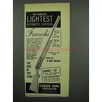 1955 Franchi Shotgun Ad - World's Lightest Automatic
