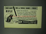 1955 Speer Bullets Ad - Use Any Big or Small Game