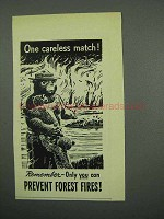 1955 Prevent Forest Fires Ad - with Smokey the Bear