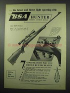 1954 BSA Hunter Short Action Rifle Ad - Light Sporting