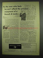 1954 Bausch & Lomb Hunting Sight and BALscope Ad