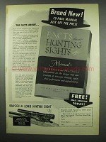 1954 Bausch & Lomb Hunting Sight Ad - The Facts About