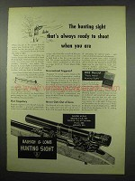 1954 Bausch & Lomb Hunting Sight Ad - Ready to Shoot