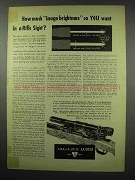 1954 Bausch & Lomb Rifle Sight Ad - Image Brightness