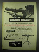 1954 Bausch & Lomb BALscope Spotting Scope Ad - Score