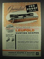 1954 Leupold 4x Pioneer Scope Ad - Fog Proof