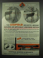 1954 Leupold Adjusto-Mounts Ad - Which Do You Want?