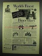 1954 Bushnell Binoculars Ad - NRA Members Look Better