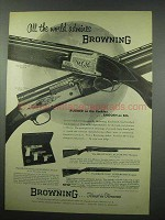 1954 Browning Ad - Superposed Shotgun Grade II +
