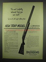 1954 Browning Superposed Grade I Trap Model Shotgun Ad