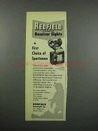 1954 Redfield 70 BRH Receiver Sight Ad - Sportsmen