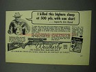 1954 Weatherby 300 Magnum Rifle Ad - Bighorn Sheep