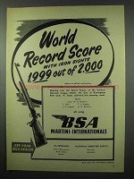 1953 BSA Martini-Internation Rifle Ad - World Record