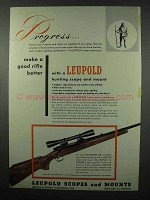 1953 Leupold Scope & Mount Ad - Winchester 308 Rifle
