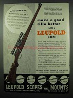 1953 Leupold Scope Ad - Mannlicher-Schoenauer Carbine