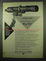 1953 Bausch & Lomb BALscope Sr. Scope Ad