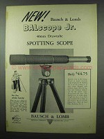 1953 Bausch & Lomb BALscope Jr. Spotting Scope Ad