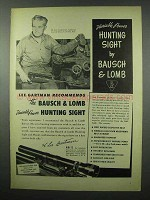 1953 Bausch & Lomb Variable Power Hunting Sight Ad - Lee Gartman