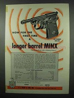 1953 Beretta Minx Pistol Ad - A Long Barrel