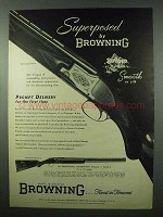1953 Browning Superposed Grade I Shotgun Ad - Rugged