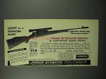 1953 Johnson Automatics Bantamweight Rifle Ad - Light as Babe