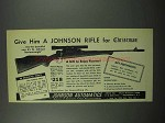 1953 Johnson Automatics Bantamweight Rifle Ad - Christmas