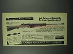 1953 Johnson Automatic Military Semi-Automatic Rifle Ad