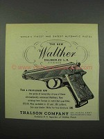 1953 Walther PP .22 L.R. Pistol Ad - World's Finest