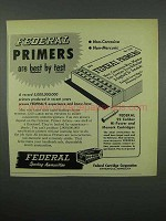 1953 Federal Primers Ad - Are Best by Test
