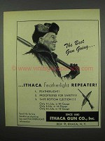 1953 Ithaca Featherlight Repeaters Ad - Best Gun