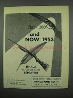 1953 Ithaca Featherlight Repeaters Ad - Then and Now