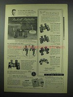 1952 Bushnell Binocular Ad - Gift You'd Like To Receive