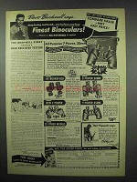 1952 Bushnell Binocular Ad - Compare Value Not Price