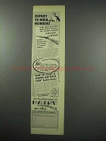 1952 Daisy Air Rifle Ad - Report to NRA Members