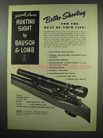 1952 Bausch & Lomb Variable Power Hunting Sight Ad - Rest of Life