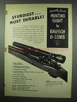 1952 Bausch & Lomb Variable Power Hunting Sight Ad - Durable