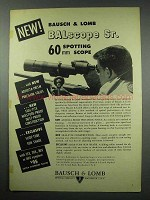 1952 Bausch & Lomb BALscope Sr. Scope Advertisement