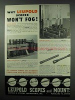 1952 Leupold Scope Ad - Why Scopes Won't Fog
