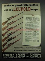 1952 Leupold Scopes Ad - Make a Good Rifle Better
