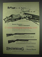 1952 Browning Superposed Grade V Shotgun Ad