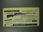 1952 Johnson Honey Featherweight Rifle Ad