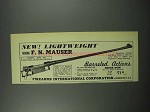 1952 F.I. Gun Ad - F.N. Mauser Barreled Action