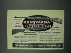 1952 Husqvarna Super Grade and Deluxe Rifle Ad