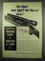 1951 Bausch & Lomb Variable Power Hunting Sight Ad