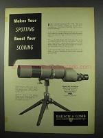 1951 Bausch & Lomb 60mm Spotting Scope Ad - Scoring