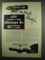 1951 Bausch & Lomb BALscope Sr. Scope Ad - Christmas