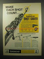 1970 Tasco #30 Shot Saver Ad - Make Each Shot Count