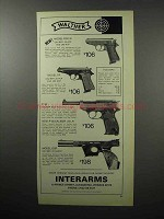 1970 Walther Model PPK/S, PP, P 38, OSP Pistols Ad