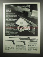 1970 Walther Model LG V; LP 2; LP 53 Air Guns Ad