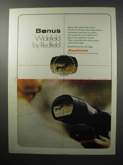 1970 Redfield Widefield Scope Ad - Bonus